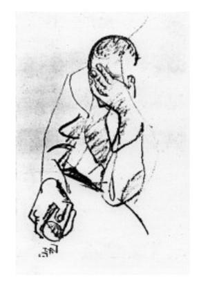 Portrait de Michel Leiris par André Masson - DR